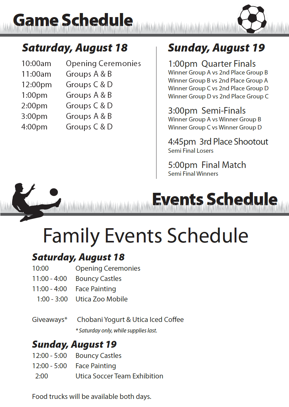 Schedule For Redeemer Cup 2018